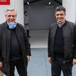 El presidente y el intendente en recorrida por hospitales del partido. | Foto:Vicente López