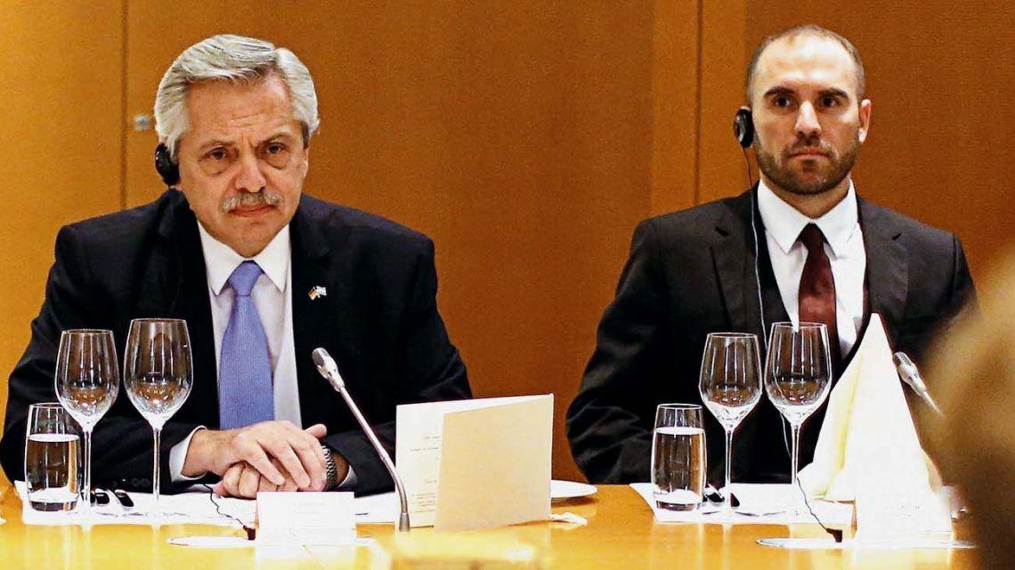 President Alberto Fernandez and Economy Minister Martín Guzmán.