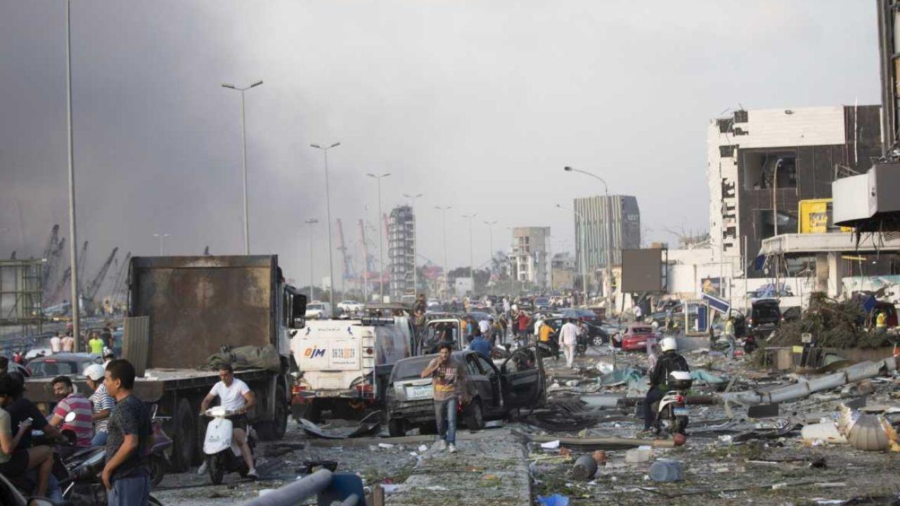 El centro de Beirut devastado.  | Foto:CEDOC
