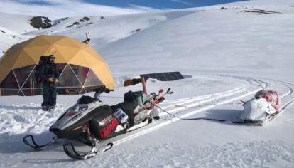 El complejo de esquí mendocino está en plena etapa de construcción.