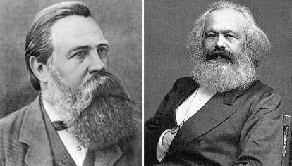 Federico Engels y Carlos Marx