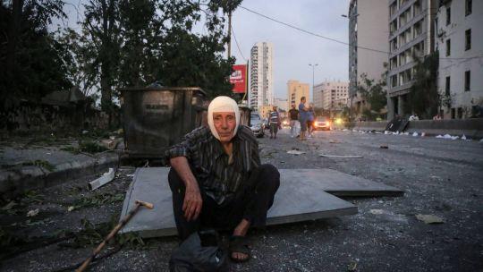 La tristeza de una Beirut devastada.