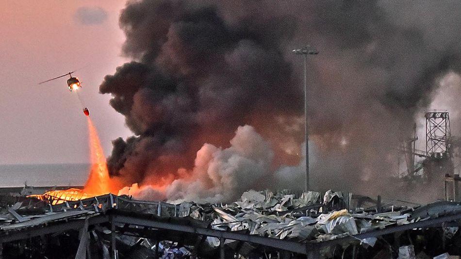 Explosión Zona cuerpo capital Libano-20200804