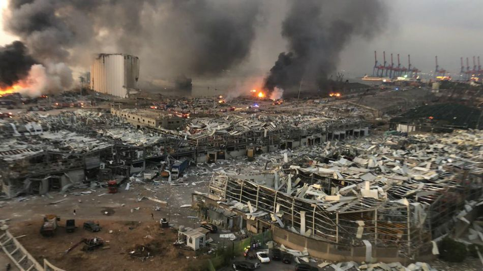 Fuerte explosión en Beirut, Líbano.