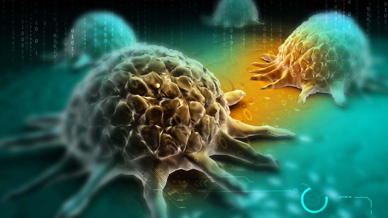 Ilustración. Células cancerígenas.