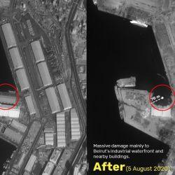Gracias a imágenes satelitales podemos comprender la magnitud de la explosión de Beirut, del 4 de agosto.