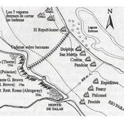 Se sospecha que el hallazgo coincide con uno de 2013. En ambos casos de trata de cadenas colocadas en 1845 por la tropa argentina para combatir a la anglo-francesa en la célebre Batalla de la Vuelta de Obligado.