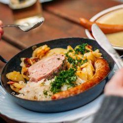 5 platos de comida típica alemana.