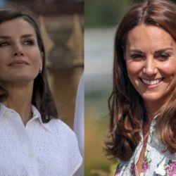 Kate Middleton y la reina Letizia de España
