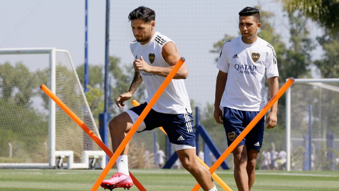 Boca Juniors players, pictured during a training session earlier this year.