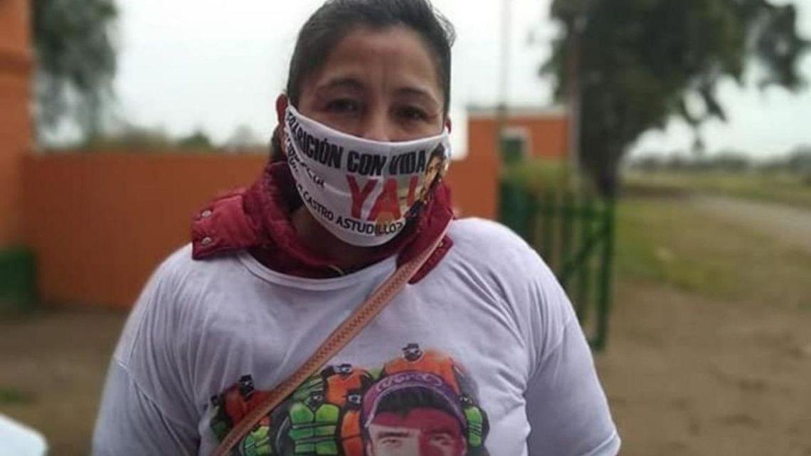 Cristina Castro, the mother of missing 22-year-old Facundo Astudillo Castro.