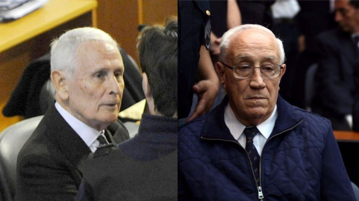 "Former Buenos Aires police commissioner Miguel Osvaldo Etchecolatz, 91, and former Navy Mechanics School (ESMA) death squad chief Jorge ""Tigre"" Acosta, 79."