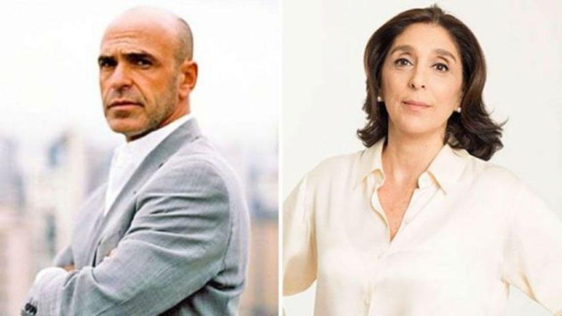 Gustavo Arribas (left) and Silvia Majdalani.