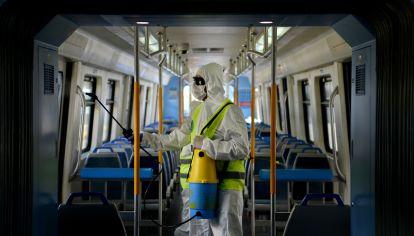 Higiene por covid-19 en transporte y espacios públicos