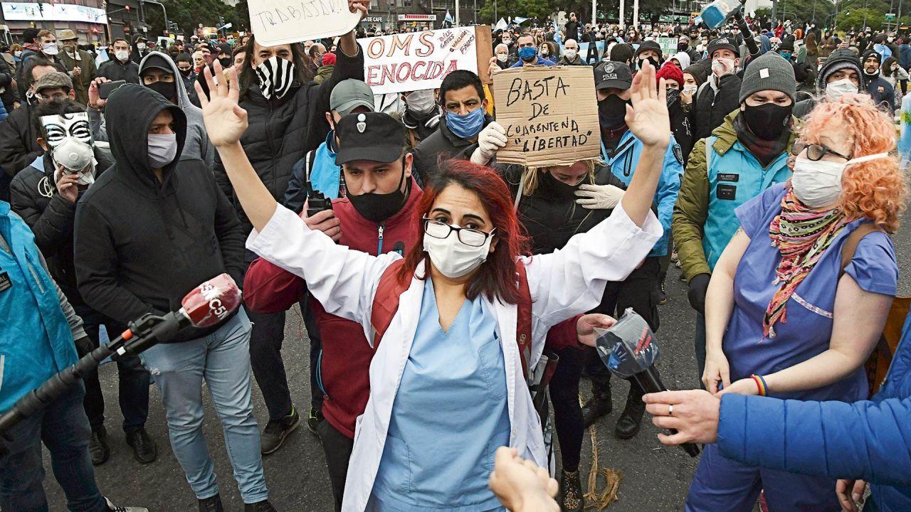 Marcha anticuarentena | Foto:Cedoc