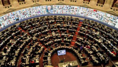 Recinto. Desde JxC pretenden que la reforma judicial se debata con los diputados presentes.