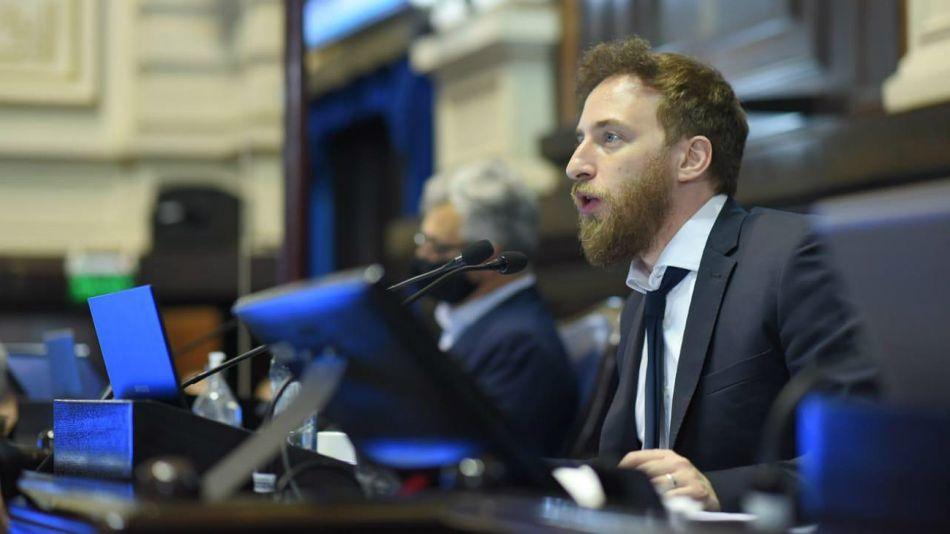 El presidente de la Cámara de Diputados de la Provincia de Buenos Aires, Federico Otermín.