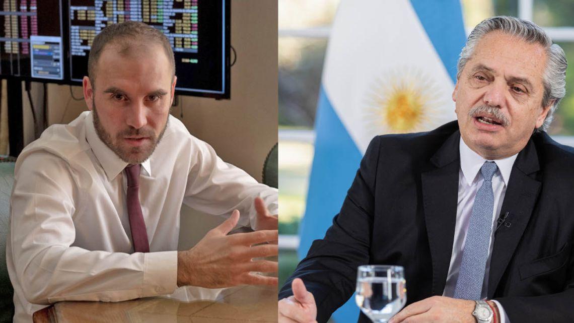 Economy Minister Martín Guzmán and President Alberto Fernández.