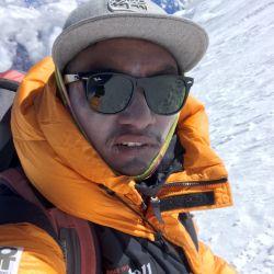 Dawa Finjhok Sherpa en el Monte Manaslu, en la cordillera de Himalaya. Foto: Privat/Dawa Finjhok Sherpa/dpa