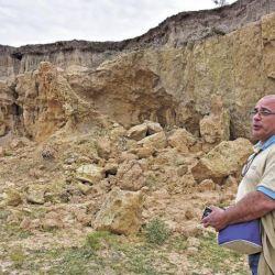El hallazgo tuvo lugar en el interior de la reserva del arroyo Toropí, ubicada en una barranca sobre el río Paraná en Bella Vista, Corrientes.