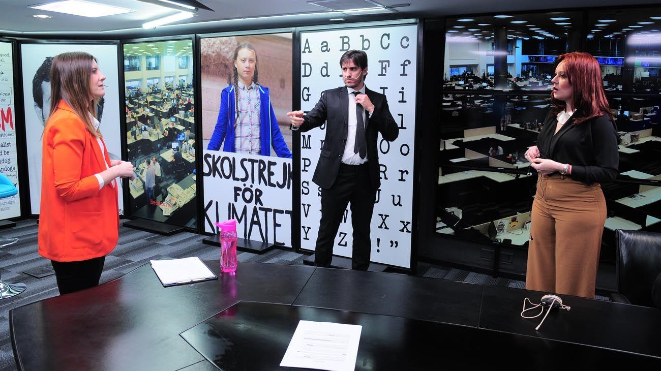 Back Stage RePerfilAr primera Emisión del noticiero producido íntegramente en Perfil.