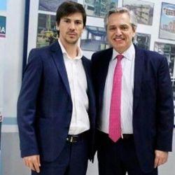 Federico Thea, el día en que conoció a Alberto Fernández | Foto:cedoc
