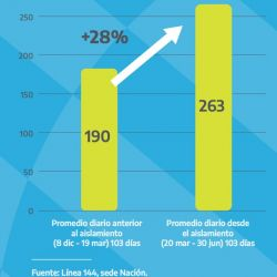 Violencia de género: más de 30 mil llamados a la línea 144 durante la cuarentena