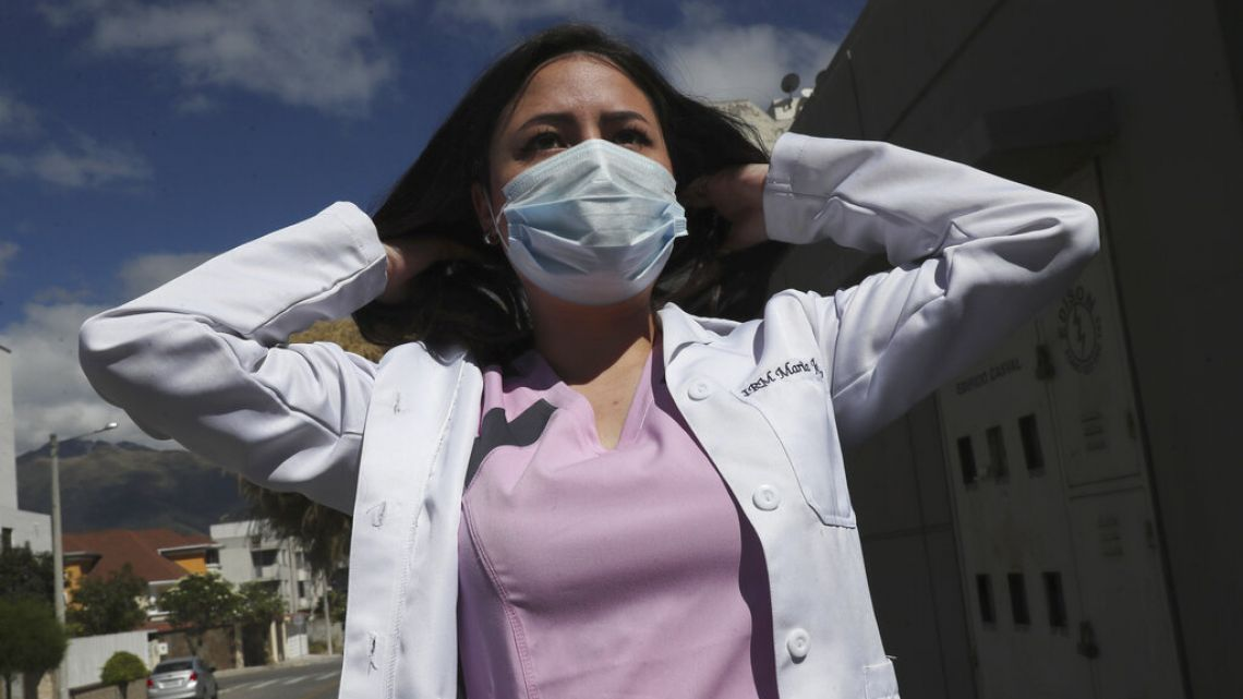 Maria Jose Casco, a newly qualified doctor, hasn't found work after graduating in Ecuador in April. Casco, 24, said she's been searching for health-related jobs as well as work in other industries.