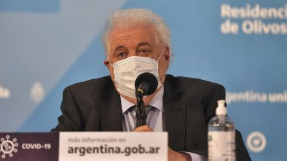 El ministro de Salud Ginés González García.