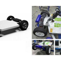 Sus cuatro motores se alimentan de una batería de 10 kWh de capacidad.