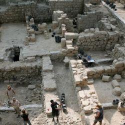 La excavación arqueológica tuvo lugar en el estacionamiento de Givati, ubicado en el Parque Nacional Ciudad del Rey David.