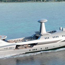 Con diseño futurista, así es el barco inspirado en un avión que surcará los mares a partir de fines de 2020.