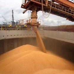 Cosecha de granos en Brasil.