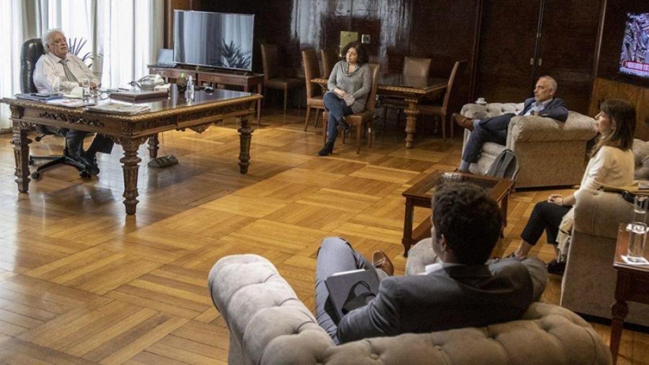 Ginés Gonzalez y García Carla Vizzotti reunión con laboratorio AstraZeneca | Foto:CEDOC