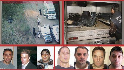 Triple crimen de General Rodríguez. Ferrón, Forza y Bina fueron asesinados en 2008. Pérez Corradi fue buscado durante 4 años, tiene falta de mérito. Los Lanatta y Víctor Schillaci, condenados, junto a Marcelo Schillaci, por la autoría material del triple homicidio, se fugaron en diciembre de 2015. Fueron recapturados.