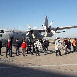 La llegada hoy de los 24 terapistas a Jujuy, enviados por el Ministerio de Salud. | Foto:CEDOC
