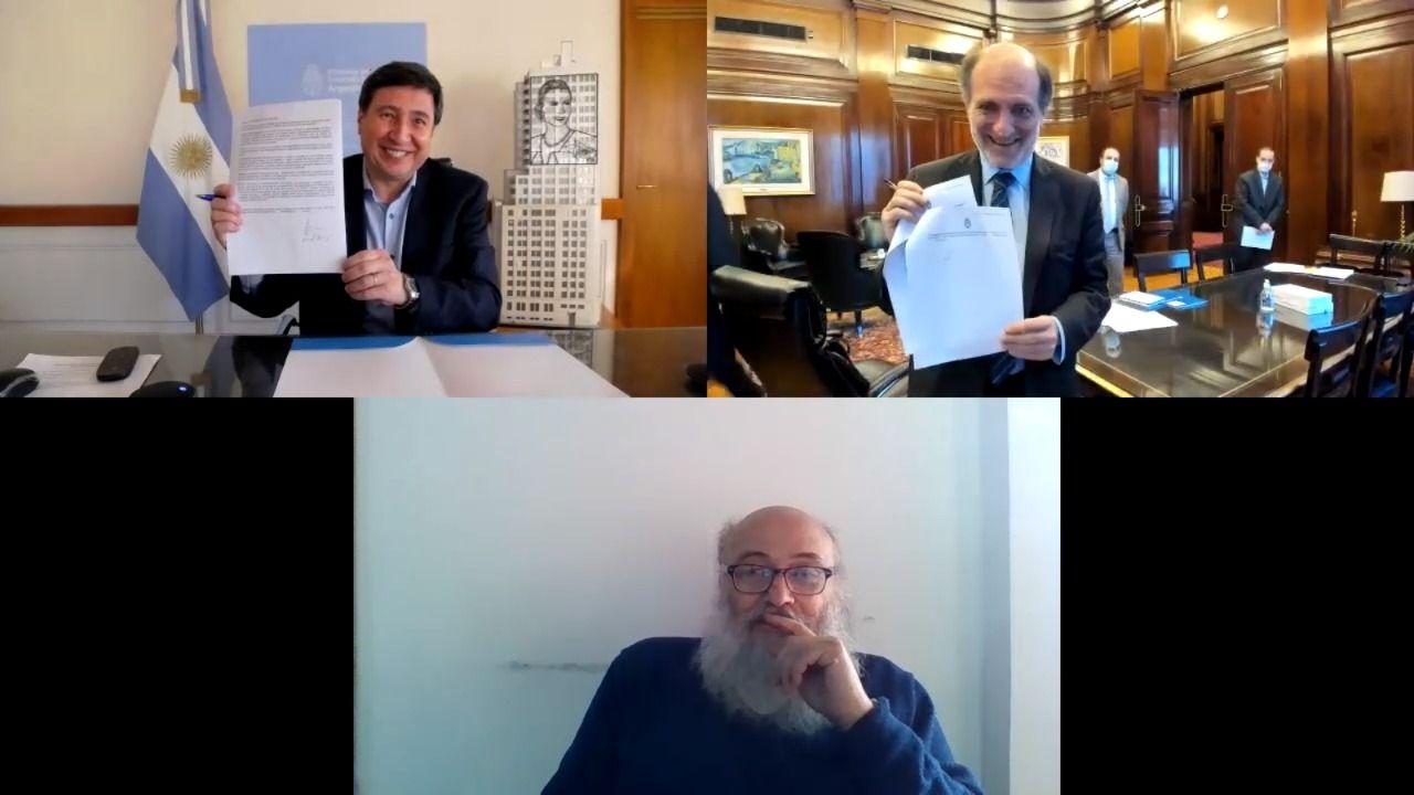 Daniel Arroyo, Eduardo Hecker y Emilio Pérsico