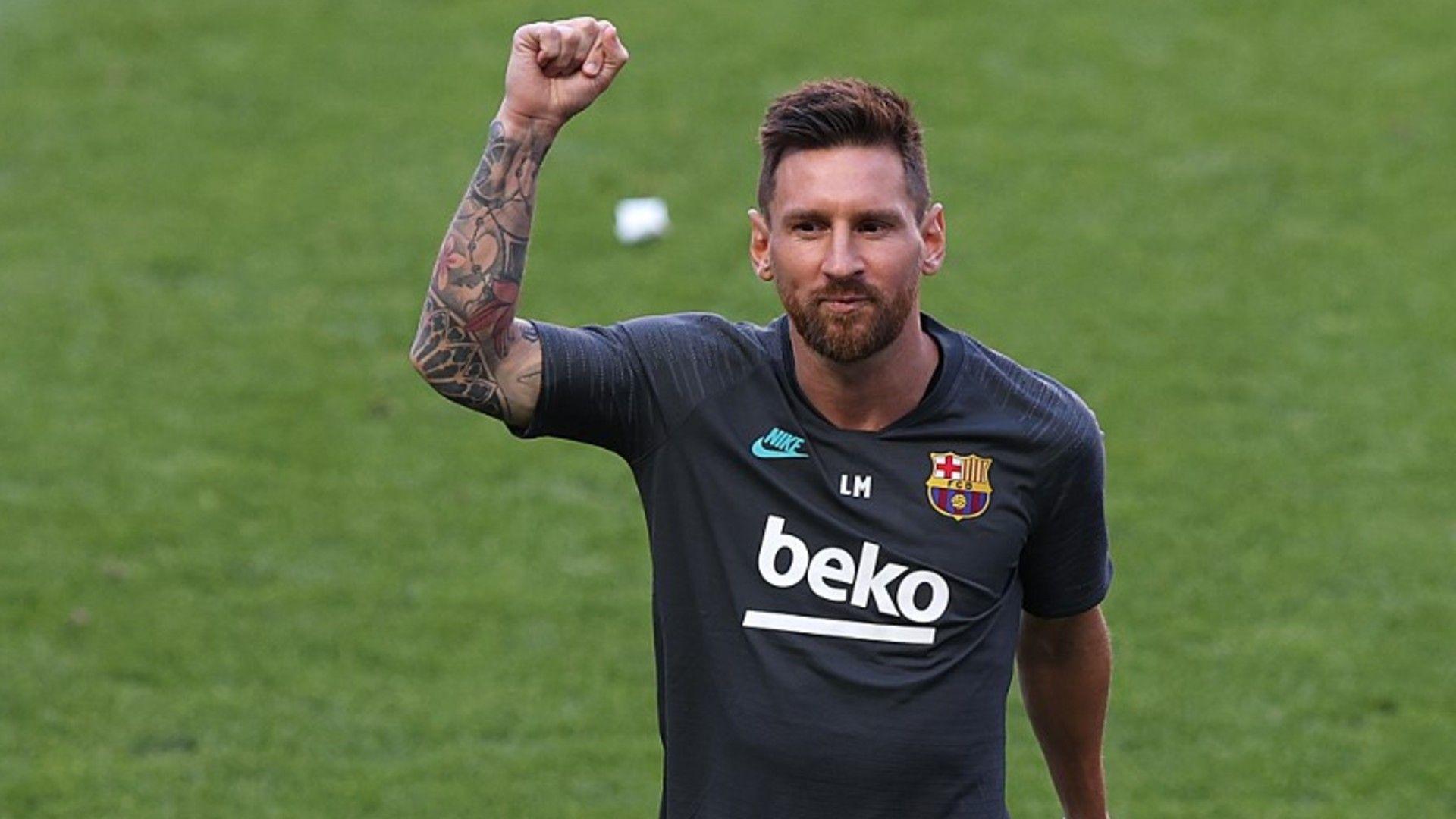 Lionel Messi está de vuelta en las prácticas con el Barcelona. // FC Barcelona