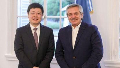 """El embajador de China dice que con Alberto Fernández se """"fortalecieron lazos"""""""