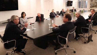 Reunión de Alberto Fernández con directivos de Vicentin
