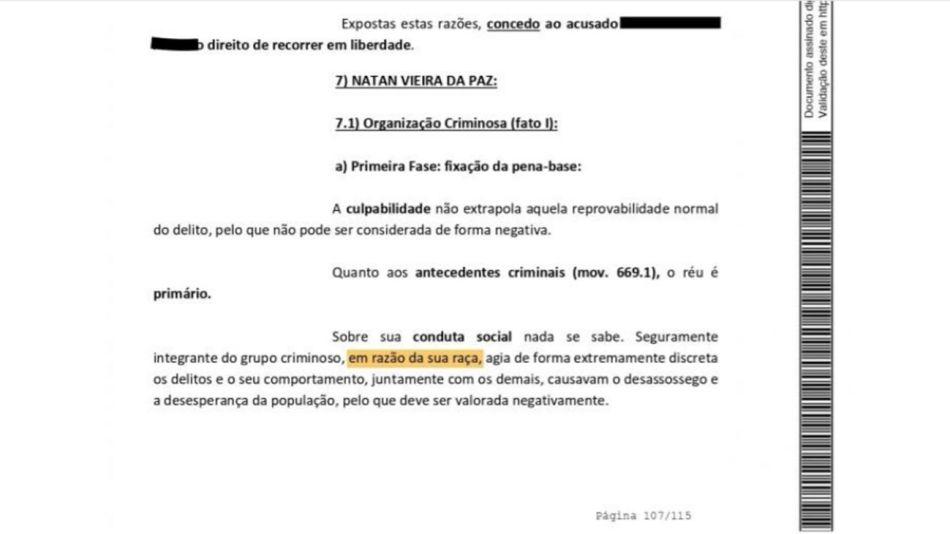 Jueza brasileña condenó a un hombre por su color de piel 20200813
