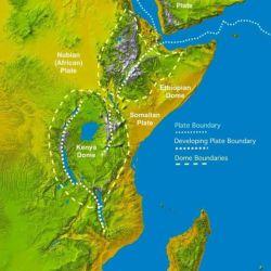 La fractura del continente demorará unos 50.000 años, tras los cuales los territorios actuales de Eritrea, Etiopía, Somalia, Yibuti y Kenia quedarían totalmente separados del resto de África.