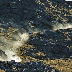 Última trepada entre gigantes mogotes de piedra, antes de llegar al cerro Los Linderos (Córdoba) a pocos kilómetros de la cima del Champaquí.