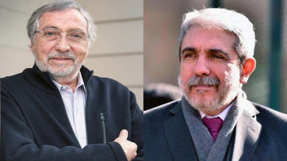 Aníbal Fernández y Luis Brandoni. 20200814