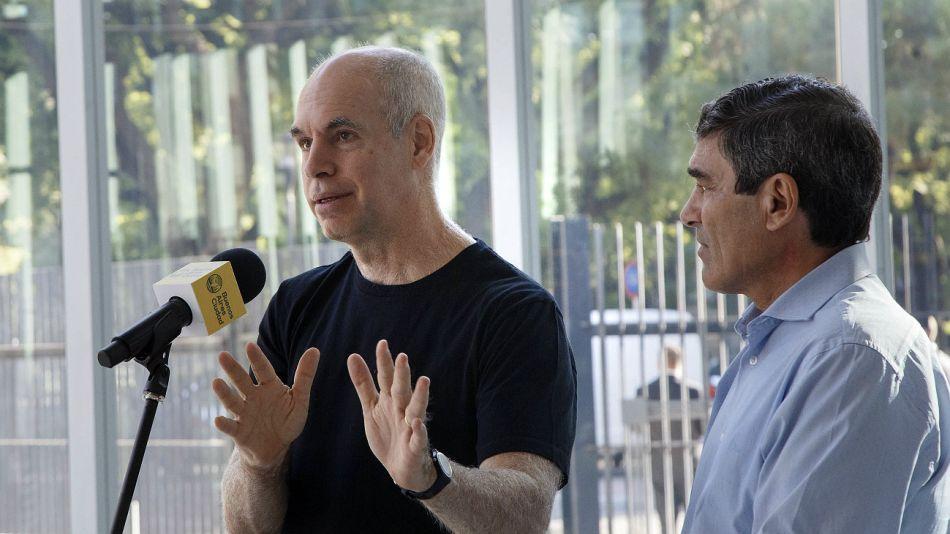 El ministro Quirós, junto al jefe de Gobierno porteño Horacio Rodríguez Larreta.