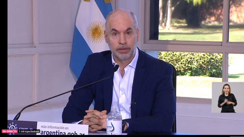 Horacio Rodríguez Larreta anuncio 2020814