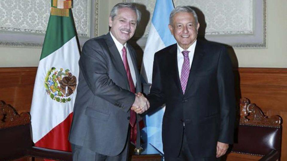 Alberto Fernández y Andrés López Obrador.