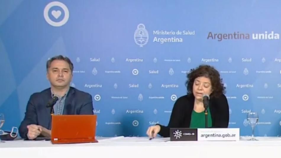 Carla Vizzotti y Alejandro Costa en el Reporte Matutino de coronavirus.