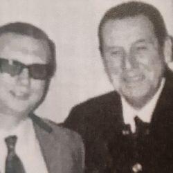 Osvaldo Agosto con Perón, 1969 | Foto:Archivo familia Agosto.