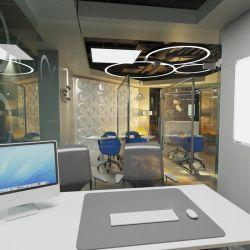 El sector de coworking Alem es moderno y con espacios de trabajo individuales.